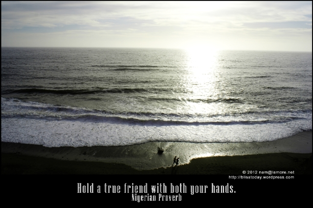 nigerian proverb: hold a true friend with both your hands